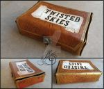 Twisted Skies Leather Card Collection Box by JAFantasyArt