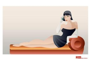 Art DECO girl by rodolforever