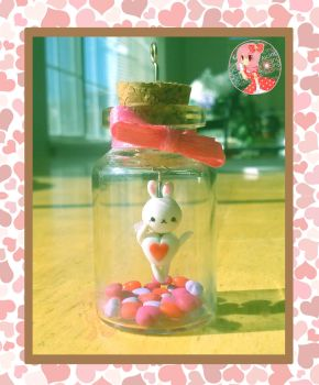 Bunny Cupid Bottle Charm by Octopop-n-Aicing