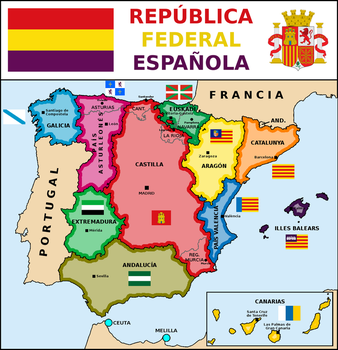 Map of Spanish Federal Republic (1) by matritum