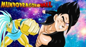 Black Gohan vs dios tridimensional by MundoDragonBall77