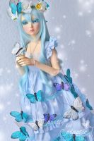 Mariposa - the blue butterfly by prettyinplastic