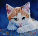 My Blue-Eyed Boy - PAINTING by AstridBruning