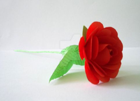 Paper Red Rose by designermetin
