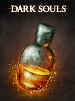 Estus, Liquid flames by TheOmegaRidley