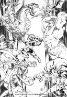 ALL together COLLAB 4 vs 4 by marvelmania