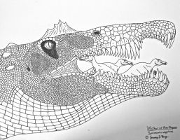 Mother of River Dragons- Spinosaurus aegypticus by Saberrex