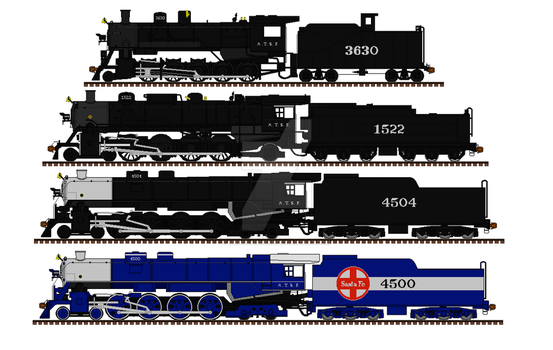 SLSF engines under the ATSF by mrbill6ishere