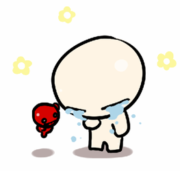 animation6 :Crying isaac by memoneo