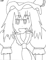 Flandre-chan Lineart by RexWhitefish