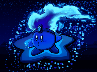 Blue Fire Kirby (DA 10th Anniversary) by luvkirby4ever
