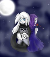 TT-Rorek and Raven by llusional-Attraction