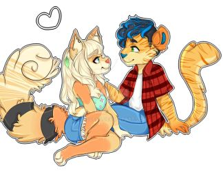 Comision Couples/parejas Furry by Diecchii