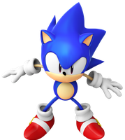 Sonic CD ending pose by BlueParadoxYT