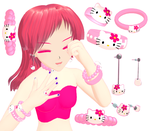 MMD Hello Kitty Accessories Download by Aira-Melody