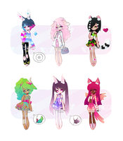 [Set Price] Dolorette Adopts [3/6 OPEN] On Sale!!! by MaiaSadoptsNstuff