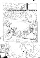 Sonic 4 Episode 2, pencils page 2 by Yardley