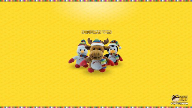 Christmas Plush Toys Wallpaper by bobandjokic