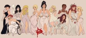 Thick N Juicy Heroines by CaptainLuckypants