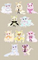 [CLOSED TY] Adoptable 89 - Fragile (MONOCHROME) by Puripurr