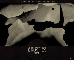 Burnt Paper Edges Brushes 3 by LilithDemoness