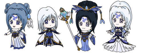 Chibis: Anjera Royal Family by MahouChikara