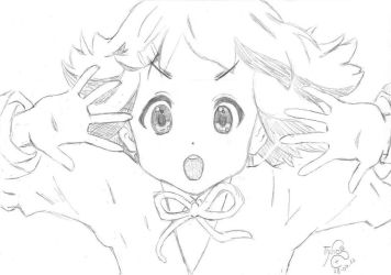 K-On Sketch 3: Yui by TinisaPlus