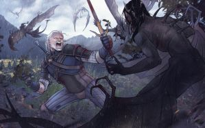 Geralt on Skellige by METSUSAN