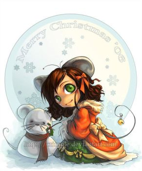 christmas mouse by Crimple