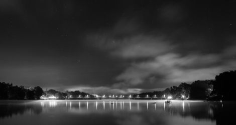New Hope/Lambertville Bridge in Black and White by dallasgutauckis
