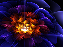 Flame-Water Flora by Flockling