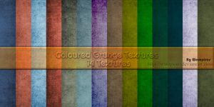 Coloured Grunge Textures by WampiruS