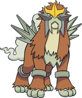 Shiny Entei Dream World Art by TrainerParshen