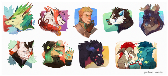 October Bust Commissions by Gato-Iberico