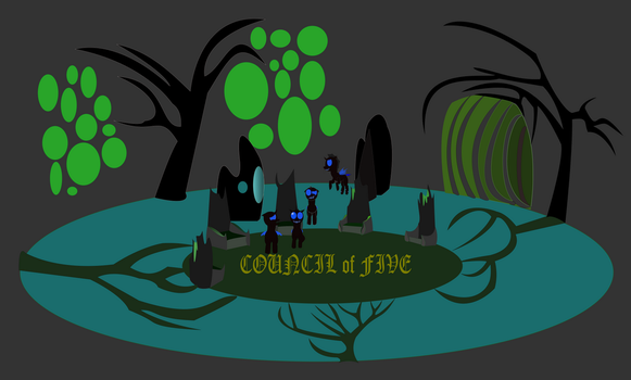 WIP cover for Coucil of Five by eldrde