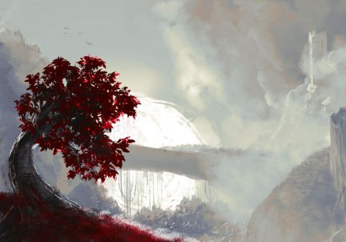 Red Tree by Vasilis-Kun