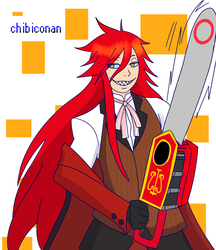fanart request:silvervEXin  Grell by ChibiConan