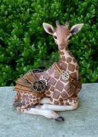 Steampunk baby Giraffe by MysticReflections