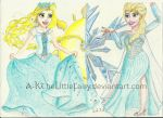 AT Rapunzel and Elsa by A-KTheLittleFairy