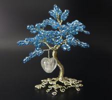Calm - bead and wire tree of life by Twystedroots