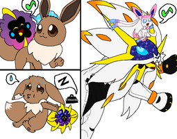 Eevee and Cosmog - PokeRide Friends