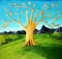 The Tree of Hands by Funkymunkz