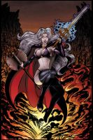 LADY DEATH PIN UP COLOR by AHochrein2010