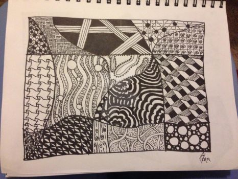 Second Zentangle by TangledPhotographer