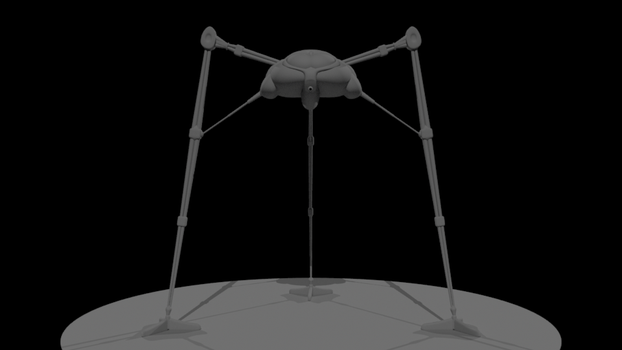 Martian Tripod WIP by TheComicGuys