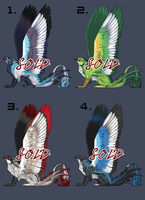 NEW Gryphon Adoptables! (SOLD OUT) by sugarpoultry