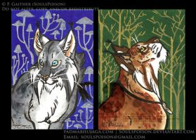 Feylines ACEO Set by soulspoison