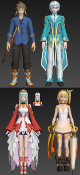 Tales of Zestiria Chars (Pack 1) by DSX8