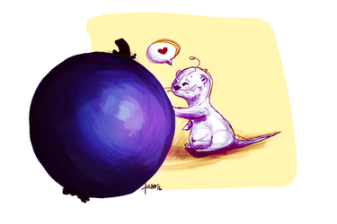 Blueberry Otter by Fasolla