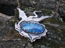 Wise dragon pendant by Egarimea